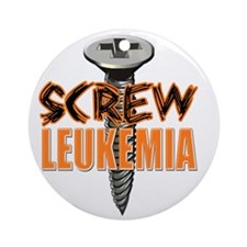Screw Leukemia Round Ornament