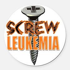 Screw Leukemia Round Car Magnet
