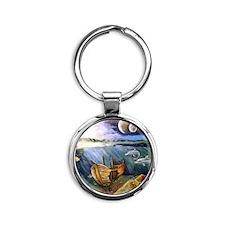 OceanTreasure Round Keychain