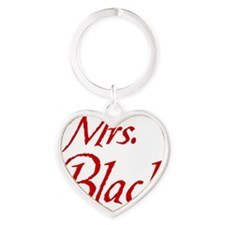 mrs-black-no-paw2 Heart Keychain