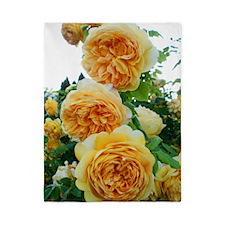 Yellow Abundant Petal Roses Twin Duvet