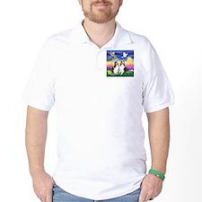 Twilight - 2 Shelties - square T-Shirt