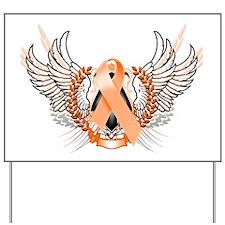 Awareness Tribal Orange Yard Sign