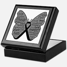 Butterfly Skin Cancer Keepsake Box