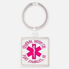 emt logo Square Keychain