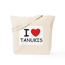 I love tanukis Tote Bag