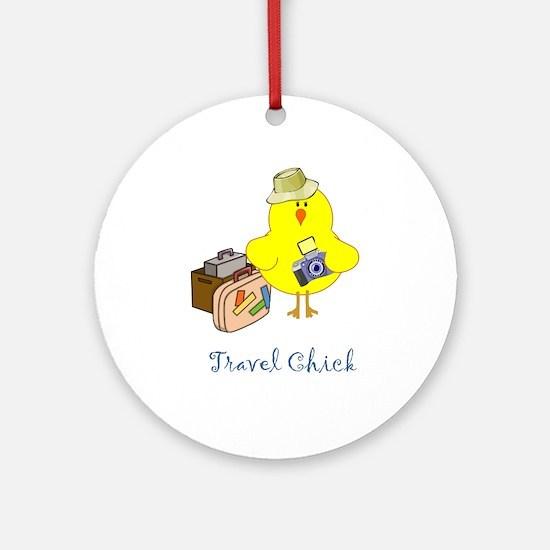 Travel Chicks Ornament (Round)