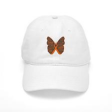 Butterfly Skin Cancer Orange Baseball Cap