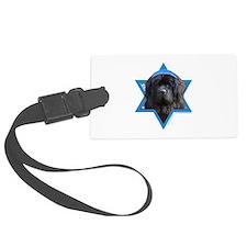 Hanukkah Star of David - Newfie Luggage Tag