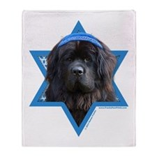 Hanukkah Star of David - Newfie Throw Blanket