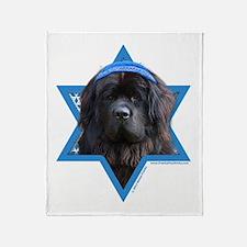Hanukkah Star of David - Newfie Throw Blanket
