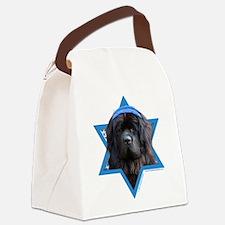 Hanukkah Star of David - Newfie Canvas Lunch Bag