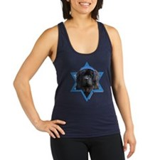 Hanukkah Star of David - Newfie Racerback Tank Top