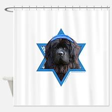 Hanukkah Star of David - Newfie Shower Curtain