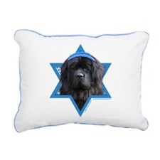 Hanukkah Star of David - Newfie Rectangular Canvas
