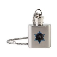 Hanukkah Star of David - Newfie Flask Necklace