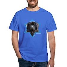 Hanukkah Star of David - Newfie T-Shirt
