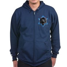 Hanukkah Star of David - Newfie Zip Hoodie