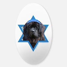 Hanukkah Star of David - Newfie Sticker (Oval)