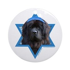 Hanukkah Star of David - Newfie Ornament (Round)