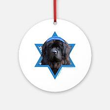 Hanukkah Star of David - Newfie Ornament (Round)