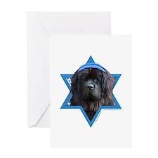 Hanukkah Star of David - Newfie Greeting Card