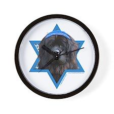Hanukkah Star of David - Newfie Wall Clock