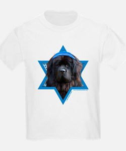 Hanukkah Star of David - Newfie T-Shirt