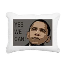 obama rectangle 2 Rectangular Canvas Pillow