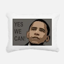 obama rectangle 2 Rectangular Canvas Pillow