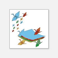 "CranePaper-Flock10x10 Square Sticker 3"" x 3"""