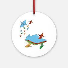 CranePaper-Flock10x10 Round Ornament