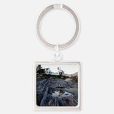 Pemaquid Reflection Square Keychain
