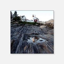 "Pemaquid Reflection Square Sticker 3"" x 3"""