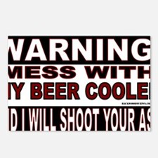 WARNING MESS WITH MY BEER Postcards (Package of 8)