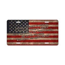 flag-pledge-OV Aluminum License Plate