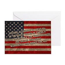 flag-pledge-OV Greeting Card