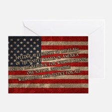 flag-pledge-OV Greeting Card