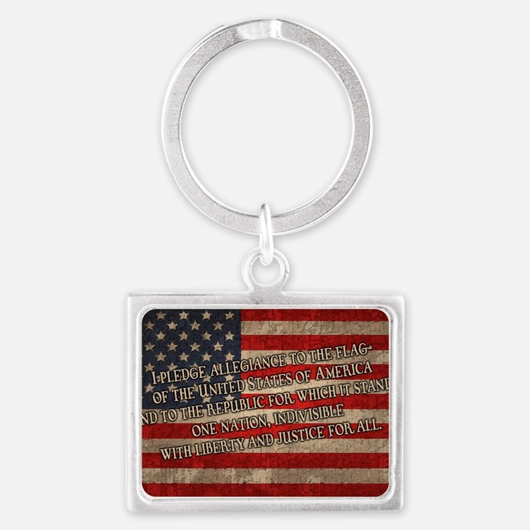 flag-pledge-OV Landscape Keychain