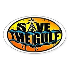 Save the Gulf sunset oval Decal