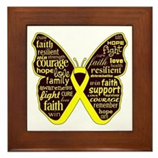 Butterfly Sarcoma Ribbon Framed Tile