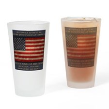 flag-pledge-BUT Drinking Glass
