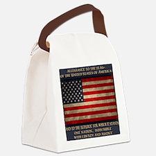 flag-pledge-BUT Canvas Lunch Bag