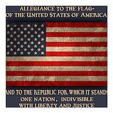 "flag-pledge-BUT Square Car Magnet 3"" x 3"""