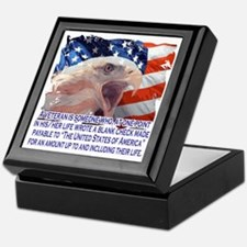 Veteran Blank Check Keepsake Box