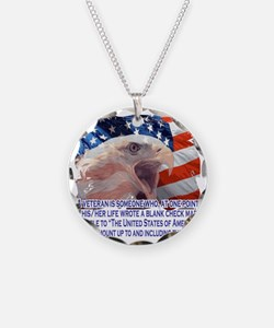 Veteran Blank Check Necklace