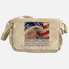 Veteran Blank Check Messenger Bag