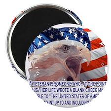 Veteran Blank Check Magnet