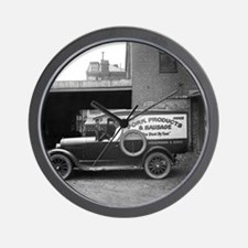 Meat Market Delivery Truck Wall Clock