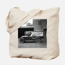 Meat Market Delivery Truck Tote Bag